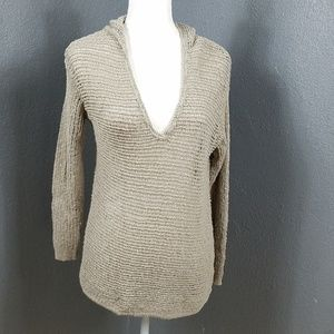Pure Jill Open Weave Sweater S Cotton V Neck